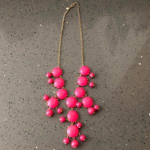 j crew pink neon bubble necklace